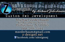 Michael Zederbaum Business Card Designs
